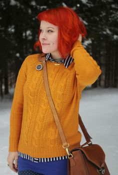 The Dainty Squid: what I wore : blue + gold