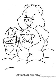 Care Bears sunshine bear Coloring printable page ...