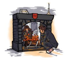 Witch in the Fireplace - Harry Potter meets Doctor Who via a charcoal t-shirt