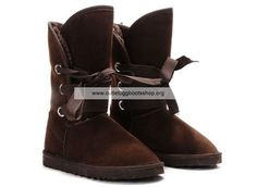 Classic Short Roxy Ugg Boots 5828 Chocolate