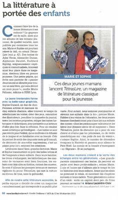 L'Abbaye de Maÿlis a relayé l'article publié sur le TétrasLire dans le magazine Famille Chrétienne fin 2015. Le TétrasLire est en vente sur www.albaverba.fr