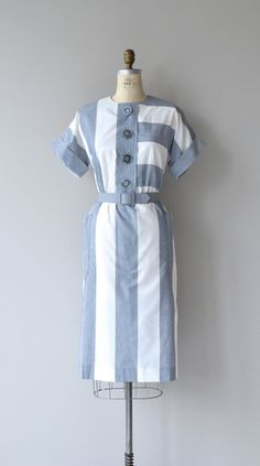 Jexley dress vintage 1980s dress 80s cotton stripe by DearGolden