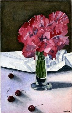 Visciole 1997 (22 x 16,5 watercolor on paper) https://www.facebook.com/Riflessi-e-trasparenze-di-Germana-Galdi-152645784768295/