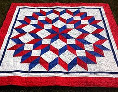 I am such a sucker for a good ol' red, white, and blue quilt... makes me want to snuggle up and watch some fireworks!