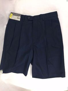 Daniel Cremieux Signature Collection Shorts Size 32 Navy Blue Polyester NWT #DanielCremieux #CasualShorts