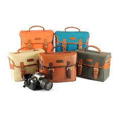 Leather+Camera+Bag++Canvas+DSLR+Camera+Bag++by+camerasbagstraps,+$49.99