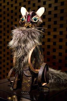 The Louis Vuitton cat by artist Billie Achilleos is the fanciest feline you'll ever meet. ©Rae Huo