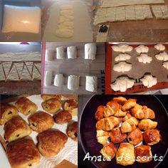Croissants et Pains au chocolat     Il y a peu de temps j'ai assisté à un cours sur les viennoiseries, je partage avec vous la recette que ...