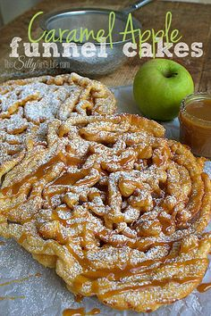 Apple Funnel Cakes by This Silly Girl's Life PLUS 6 new apple recipes to try this year!