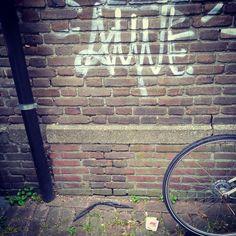Deze kunstenaar heeft wel 3 uur nagedacht over de positie van de ruitenwisser t.o.v. de regenpijp... #zwerfieHasseltGoirke #TilburgSchoon #buurtcultuurTilburg