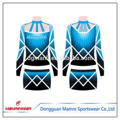 China supplier shirts and shorts, hot sexy cheerleading costumes open girls uniforms