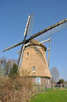 Polder mill De 1100 Roe , Amsterdam-Slotermeer, the Netherlands.