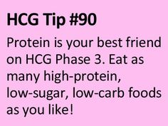 This is by far the easiest way to maintain weight loss. Protein = HCG P3!
