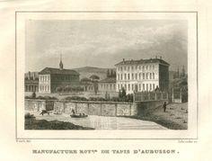 Manufacture Royale de Tapis d'Aubusson, Creuse, extrait du Guide pittoresque du voyageur en France, ed Firmin Didot, 1835 - Bfm Limoges. http://www.bn-limousin.fr/items/show/2945