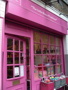 London store front - I would have to go in here just because it's PINK!