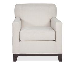 Bailey Chair - Simple and stylish, our Bailey collection is a great choice for small spaces. Stocked in an ivory fabric with espresso finish legs and wood base. May