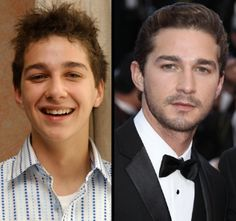 Shia LaBeouf as the star of 'Even Stevens' in 2003 but a world-class heartthrob by 2010 Even Stevens, Shia Labeouf, Star Children, Stars Then And Now, World Class, Disney Dolls, Disney Stars, Twinkle Twinkle Little Star, Movie Stars