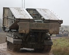 A Titan Armoured Vehicle Launcher Bridge is pictured during an exercise conducted by 2nd Battalion Royal Welsh (2 RWELSH).