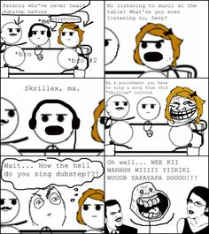 Rage Comics: How the hell do you sing dubstep???