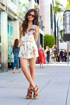 Blogger Elaine Jung goes Beverly Hills glam in her summer #OOTD featuring Charlotte Russe wedges. See more on her blog: ♡ Romantic Fawn ♡ - Beverly Boulevard