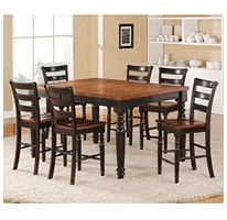 This Montero Counter Height Dining Set adds style and versatility to your dining area.