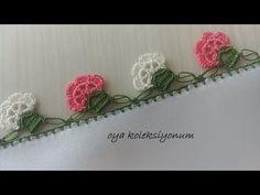 Çiçekli Kolay Tığ Oyası - YouTube Crochet Lace, Easy Crochet, Baby Booties, Diy And Crafts, Crochet Earrings, Hair Accessories, Flower Power, Embroidery, Youtube