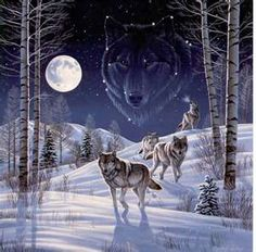 the soul of a wolf is a howl, with a moon and stars . You should not fear wolves, for they are harmless.