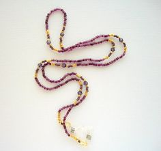 Purple Eyeglass Necklace Beaded Holder by HandcraftedorVintage