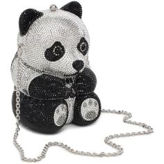 Panda Evening Bag - Judith Leiber - CoutureLab.com ($4,440) ❤ liked on Polyvore featuring bags, handbags, clutches, bolsos, jewelry, purses, judith leiber, evening bags, judith leiber handbag and handbags purses