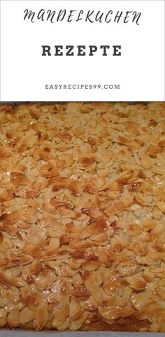 Baking recipe for a sheet of almond cake. The almond paste makes this sheet cake a delicious experience - straight out of the oven. Best Butter, Almond Paste, Cake & Co, Almond Cakes, Sweet Cakes, High Tea, 3 Ingredients, No Bake Cake, Sweet Tooth