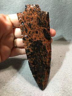 Handmade Mahogany Obsidian Knapped by David Semones by SemonesWildArt on Etsy Flint Knives, Obsidian Blade, Buy And Sell, David, Handmade, Stuff To Buy, Etsy, Hand Made, Arm Work