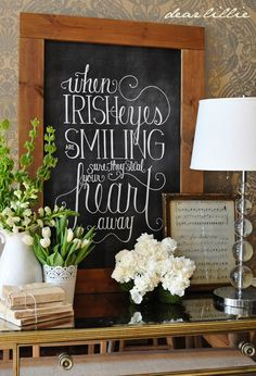 Dear Lillie: When Irish Eyes Are Smiling (St. Patrick's Day Chalkboard Download)