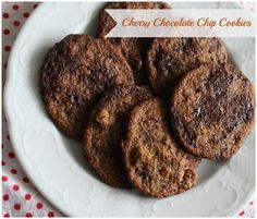 Cherry (or Apricot!) Chocolate Chip Cookies - Vegan w/ Earth Balance