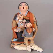 Native American / Indian Storytellers -Pueblo Pottery from the Southwest - Pueblo Pottery Maine