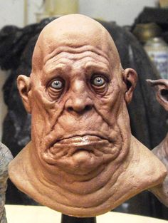 This is a 4 inches tall latex bust. The sculpt was very much based in a hellboy 2 maquette bust. what could he be thinking? Zombies, Sculpture Head, Horror Art, Creature Design, Fantasy Creatures, Face Art, Amazing Art, Art Dolls, Fantasy Art
