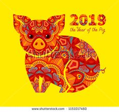 117 Best New Year Pig Images In 2019 Pigs Piglets New Year Postcard