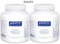 Pure-Encapsulations-Cal-Mag-Citrate-Malate-180-VegCapsules-2-PACK-Exp-2-18-SD