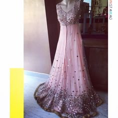 On Wednesday's we were pink! To add to that we are sparkled by this mirror work pink blush floor length gown/anarkali.   Customise one for yourself visit us at indiaboulevard.com or email us akta@boulevard.com  #indiancouture #desicouture #indianwear #desifashion #indianfashion #fashionista #customindianwear #allthingsindian #newdesigners #lehenga #bridal #indianembroidery #couture #bollywood #ss15 #igers #instagood #igers #asianbride #bollywood #summer #lcroptop #skirt #love #stunning…