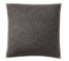 Cotton Basketweave Pillow Cover in ebony, 20""