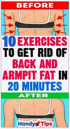 10 Exercises to Get Rid of Back and Armpit Fat in 20 Minutes #backfat #armpitfat