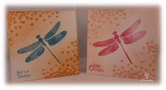 2 kleine kaartjes, stempels van Stampin'Up! Dragonfly Dreams