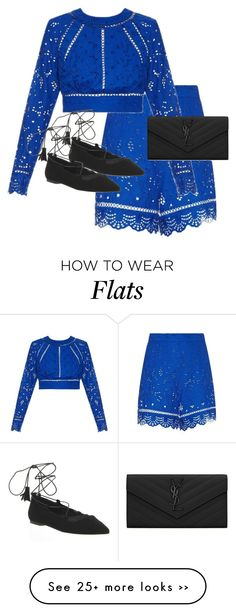 """""""Untitled #9555"""" by alexsrogers on Polyvore featuring Zimmermann, Office and Yves Saint Laurent"""