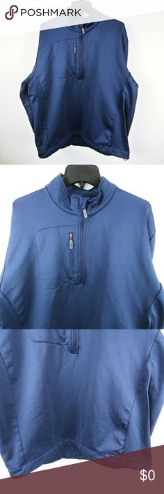 Callaway Men Performance Jacket 3/4 Zip Pullover Brand: Callaway Buyer: Men Item: Jacket Fit: Performance Details: 3/4 zip front, pullover, front chest pocket, mock neck, drawstring, logo Size: XL Color: Blue Condition: Excellent pre-owned condition, no flaws  Measurements: Armpit to Armpit: 24.5 inches Shoulder to Hem: 27 inches Sleeve: 25 inches  Location: 50 Weight: FC 15 oz Callaway Jackets & Coats Performance Jackets