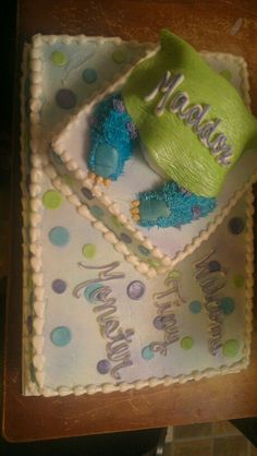 Monsters inc baby shower cake ...