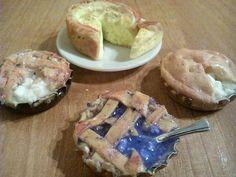 Mini ciasta Miniatures food minihouselovepl.blogspot.com