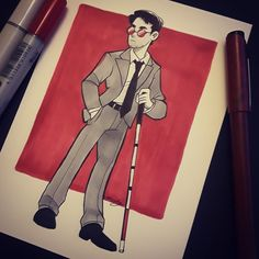 Drawing uploaded by tinymintywolf on PaigeeWorld: mattmurdock, daredevil, marvel Daredevil Artwork, Daredevil Punisher, Marvel Art, Marvel Comics, Mera Dc Comics, Cartoon Drawings, Art Drawings, Marvel Characters, Art Blog