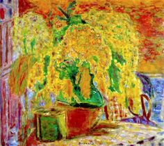 Pierre Bonnard  ~  Bunch of Mimosa, 1945