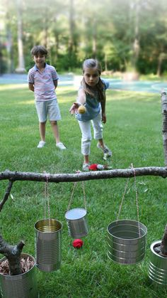 34 Fun DIY Backyard Games and Activities for Kids. Fun for July or outdoor games any time. Diy Projects For Kids, Diy For Kids, Craft Projects, Cool Diy, Fun Diy, Easy Diy, Outdoor Fun, Outdoor Ideas, Outdoor Parties