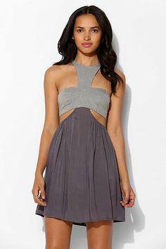 Tela Bandeau-Top Cutout Dress - Urban Outfitters
