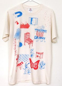 Red and Blue Collab T-shirt (Medium) / High in the Bay